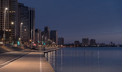 Dawn (urbsinhorto1837) Tags: chicago city dawn lakemichigan lakeshoredrive light outdoors path skyline streeterville trail urban water