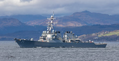USS Ross Guided Missile Destroyer (Ratters1968: Thanks for the Views and Favs:)) Tags: canon dslr photography digital eos canon7dmk2 martynwraight ratters 1968 warships ship navy war military fleet faslane greenock cloch jw clyde riverclyde scotland sea water uss ussross guidedmissiledestroyer arleighburkeclassdestroyer destroyer missile guided joint warrior exjointwarrior2018 maritime exercise jointwarrior2018