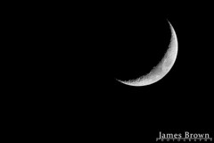 Waxing Crescent Moon (17.4% Illuminated) (J. Brown Photography) Tags: james brown photography sony alpha moon lunar night astro astrophotography lunarphotography sigma