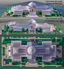 01 - NGA West, Three Views (wrtyler) Tags: lego architecture nationalgalleryofartwest building nga nationalmall washingtondc micro microscale brickslopes