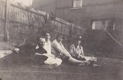 Reading and Relaxing 1930's (Bury Gardener) Tags: bw blackandwhite oldies old snaps scans people folks england uk british britain vintage
