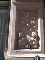Winged Hippogryph Cat Gargoyles Brownstone 0161 (Brechtbug) Tags: winged gargoyles hypogriph cats with tongues out webbed feet gargoyle mythological architecture building hippocampus statue hippocamp cat feline sea monster statues relief sculpture monsters midtown manhattan west side theater district nyc 2018 new york city 04232018 april light shadow shadows