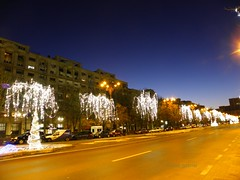 Unirii (Unification) Avenue in Bucharest (cod_gabriel) Tags: bucureşti bucharest bukarest boekarest bucarest bucareste bucuresti romania roumanie românia night noapte lights christmaslights holidays winterholidays
