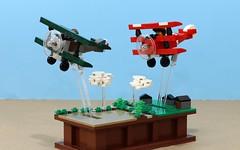 Pursuit of Flight (JK Brickworks) Tags: lego ww1 plane airplane aircraft sopwith camel fokker redbaron