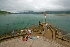 A view form Barmouth Harbour entrance looking towards the Historic Barmouth Bridge. (Minoltakid) Tags: barmouth barmouthbridge abermaw people relaxing fun chilling seaside summer summerfun minoltakid theminoltakid rossdevans rossevans wales gwynedd happydays happiness