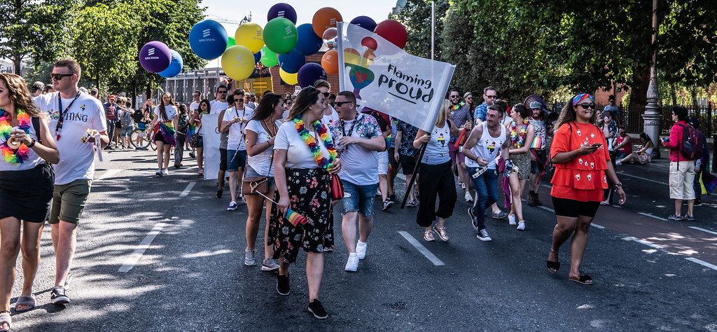 ABOUT SIXTY THOUSAND TOOK PART IN THE DUBLIN LGBTI+ PARADE TODAY[ SATURDAY 30 JUNE 2018] X-100137