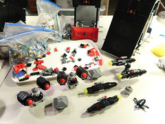Omega Update WIP 7 (DJ Quest) Tags: lego spyrius space ship moc wip secondary support weaponry