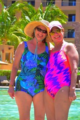 Lori & Gaylene Around the Pool (Kirt Edblom) Tags: loreto loretomexico mexico islandsofloreto villadelpalmar vacation vdp resort seaofcortez spa wife gaylene milf loriford aroundthepool bcs baja bajacaliforniasur pool swim swimming swimmingpool friends swimsuit