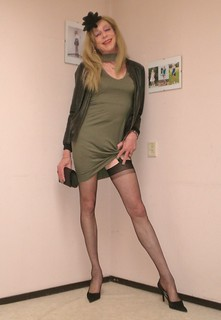 Dress and stockings.