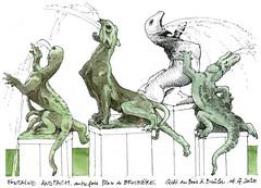 Bruxelles (gerard michel) Tags: belgium bruxelles fontaine sketch croquis