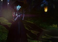 Hide and seek (Mya Milena) Tags: secondlife pixels games cyber cyberpunk wizard slink omnis besy pixicat forest faery flare