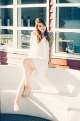Be with Me (check4newton) Tags: long red hair legs sun evening flash photography ef 18 85mm open tattoo hogwards harry potter art kunst prints drucke