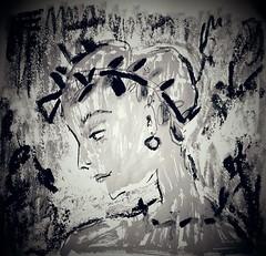 Dark Version (Lindsaywhimsy) Tags: redon inspiration dark bw woman portrait