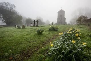 Church yard mist