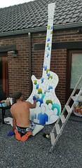 Work in progress... www.benheine.com  #art #painting #acrylic #guitar #music #people #crowd #creative #artist #foule #gens #music #rochefort #public #benheineart #benheine #samsungs9 (Ben Heine) Tags: art crowd artist benheineart people creative guitar rochefort music gens foule public painting acrylic samsungs9 benheine comm communederochefort