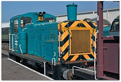 Class 03 Shunter (zweiblumen) Tags: class03 shunter 03073 train locomotive vintage diesel creweheritagecentre crewe cheshire england uk canoneos50d canonef35mmf2 hdr zweiblumen picmonkey brdoncaster 1959 d2073