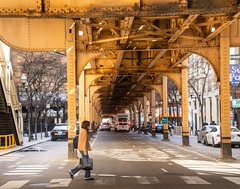 Underground . . . (Dr. Farnsworth) Tags: el elevated train underground life cars people shops memory chicago il illinois spring april2018