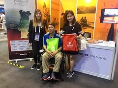 Representantes da Sport Association for Wheelchair Basketball Thai