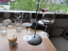 My wine flight; her White Russian (jamica1) Tags: kvr pub penticton okanagan bc british columbia canada wine flight white russian