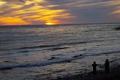 Trio Taking In The Sunset (Joey Z1) Tags: sunset takinginthesunset viewfromthebluff lalife lasunset pacificocean breakingwaves wavescrashingtherockybeach lifeinla lifeinlosangeles royalpalmsbeach royalpalmsstatebeachlosangeles sola tranquilscene polychromatic atmospherescene pentaxks1 bylaphotolaureatejoeyzanotti reflectiononthewater sky ocean