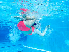 pooltime-1 (lermaniac) Tags: red pool swimingpool girl outdoors teen water countryclub underwater child blue dive
