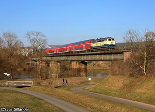 DB Regio 218 460 & 218 438, Wörth am Main 23.02.2018