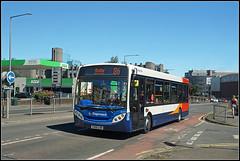 36207, Corporation Street (Jason 87030) Tags: enviro e200 stagecoach midlands 86 rugby warwickshire sunny june summer red white blue orange asda roadside legs shot shoot light bus transport image sony ilce alpha a6000 lens tag