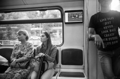 Moscow. Metro during a WC2018 match. 07.2018 (Woodent) Tags: wc2018 worldcup moscow rangefinder streetphotography bw film astrumphoto100 200 diafine leicaiii kobalux2835 metro