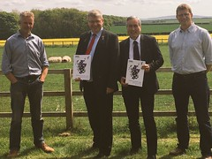 With Martin Whitfield MP catching up with local NFUS reps