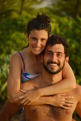 Eca & Macarena (radargeek) Tags: mokapubeachpark hawaii beach maui isleofmaui island may 2017 macarena eca smiles beard piggyback piggybackride