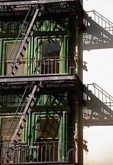 San Francisco – Columbus Tower / Fire Escape Ladders & Platform Shadows (David Paul Ohmer) Tags: san francisco california columbus tower fire escape ladders shadows sentinel building