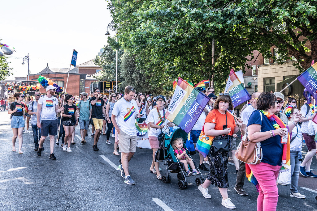 ABOUT SIXTY THOUSAND TOOK PART IN THE DUBLIN LGBTI+ PARADE TODAY[ SATURDAY 30 JUNE 2018] X-100110