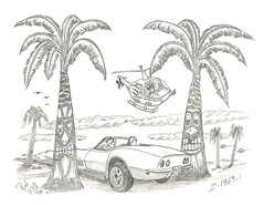 Z-1969-1 (rod1691) Tags: myart art sketchbook bw scfi grey concept custom car retro space hotrod drawing pencil h2 hb original story fantasy funny tale automotive illustration greyscale moonpies sketch sexy voodoo