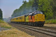 1Q18 (elr37418) Tags: colas blackpool derby bridge bamber uk england test 37116 37421 nikon d7100 lancashire flickr north west yellow orange black network rail