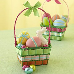Basket Gifts : Easter basket idea repurposing plastic pint-size strawberry cartons (at supermar… (giftsmaps.com) Tags: gifts
