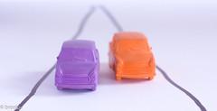 Trabi (brookis-photography) Tags: erasers car trabi trabant orange purple macromondays