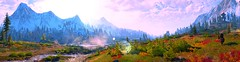 """A landscape filled with energy."" (Xenolith3D) Tags: witcher 3 wild hunt skellige geralt screenshot panorama nvidia ansel tree water landscape nature colorful mountain sky grass wood forest cloud energy cd projekt red"