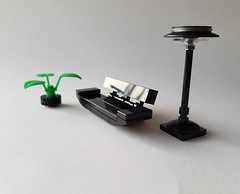 Plant, sofa and lamp (Coral House MOC) (betweenbrickwalls) Tags: lego afol moc design interiordesign furniture furnituredesign
