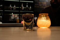 ol' grandad (FlypaperPx) Tags: shot shots whiskey whisky drink chicago bar alcohol candle candlelight dark darkness henrys one solo friend happy drunk drinks