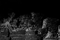 Not everybody can rebirth from ashes... (Shadows Of The Sun) Tags: canon blackandwhite blancoynegro bw byn monochrome closeup macro darkness ligths broken dust burned burn ashes urbex abandoned exploration lostplaces lost hiddenplaces photographer shadowsofthesunphotography