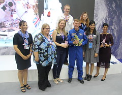 Tim Peake with Airbus Defence & Space STEM ambassadors (europeanspaceagency) Tags: esa europeanspaceagency space universe cosmos spacescience science spacetechnology tech technology uk exhibition fia18 fia2018 farnborough farnboroughairshow farnboroughinternationalairshow timpeake astronaut astronauts airbusdefencespace stem
