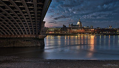 Saint Paul's Cathedral (Dave Sexton) Tags: london england united kingdom saint paul's cathedral blackfriars bridge city skyline river thames north bank water reflections blue hour dxo photolab aurora hdr affinity photo pentax k1 2470mm f28