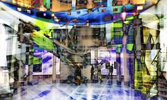 waar kijk je naar ? (roberke) Tags: digitalart creation creative creatief fantasy surreal photomontage photoshop layers lagen textures textuur people mensen kleurrijk kleuren