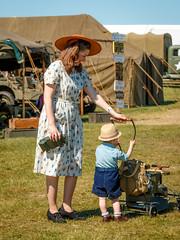 WWII_weekend-1003.jpg (gdober1) Tags: autoupload wwiiweekend worldwarii 1940s woman child reenactor aviation airshow