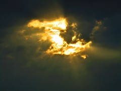 Almost Nightfall (Gary Chatterton 4 million Views) Tags: sunset sunstreaks sun clouds colours eveningsky lastlight nightfall sky sunshine natural nature flickr explore canonpowershot photography