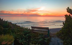 Bench Sunset (shon.kiniston) Tags: landscape sunset ocean oregon peaceful