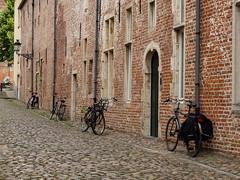 Las bicicletas son para el verano (inma F) Tags: belgica lovaina calle ciudad viaje louvain bicicleta verano casa belgium bicycle bike street houses wabisabi