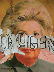 Oxygen (Fierceham) Tags: oxygen mao zedong maozedong ripped collage cutandpaste digitalcollage graphicdesign woman blonde