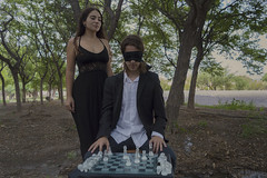 Jaque Mate (Nostalgicidio) Tags: fine art fineart photography photoshop photograph photo fantasy dark strange different weird wow scary surrealism creepy conceptual cinematic beauty beautiful nature awesome girl mystery darkness afternoon men women chess queen king moody boy numbed forest mood