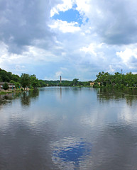 Fox River (Mark Herrera) Tags: foxriver eastdundee illinois illinoisrivers river summer cloudy clouds waterreflections reflection